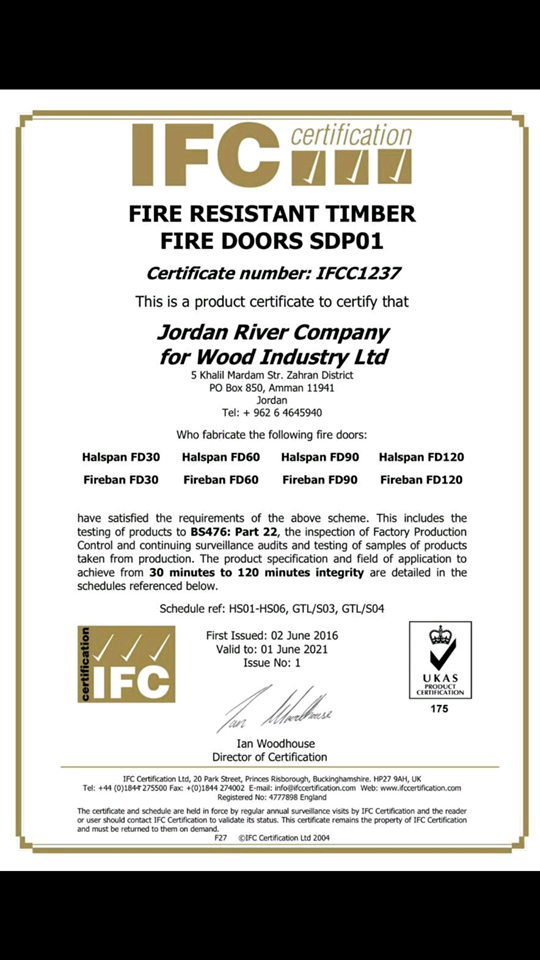 Firerated Doors Certification